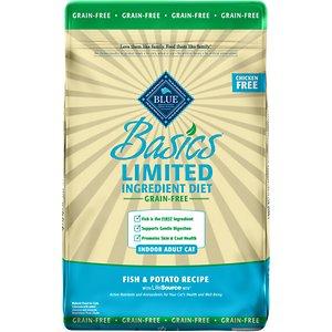 Blue Buffalo Basics Limited Ingredient Grain-Free Formula Fish & Potato Indoor Adult Dry Cat Food