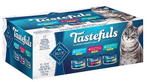 Blue Buffalo Tastefuls Tuna, Chicken, Fish & Shrimp Entrées Variety Pack Flaked Wet Cat Food