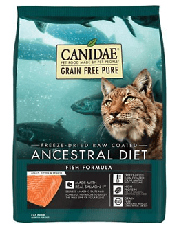 CANIDAE Grain-Free PURE Ancestral Freeze-Dried Raw Coated Salmon Formula Dry Cat Food