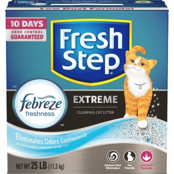 Fresh Step Extreme Odor Control Febreze Scented Clumping Clay Cat Litter