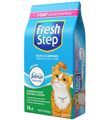 Fresh Step Febreze Scented Non-Clumping Clay Cat Litter