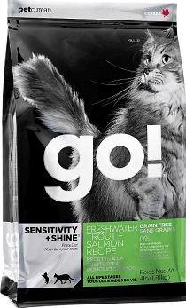 Petcurean Go Sensitivity + Shine Cat Food Freshwater Trout + Salmon