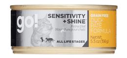 Go! Sensitivity + Shine Grain-Free Duck Recipe Canned Food