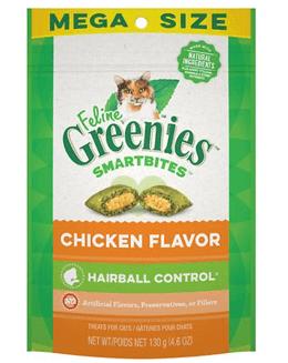 Greenies Feline SmartBites Hairball Control Chicken Flavor Cat Treats