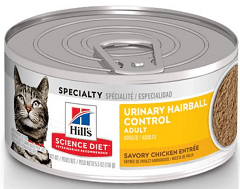 Hill's Science Diet Adult Urinary Hairball Control Savory Chicken Entree Canned Cat Food