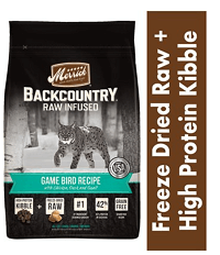 Merrick Backcountry Raw Infused Game Bird Recipe with Chicken, Duck & Quail Grain-Free Dry Cat Food
