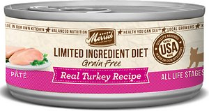 Merrick Limited Ingredient Diet Grain-Free Real Turkey Pate Recipe Canned Cat Food