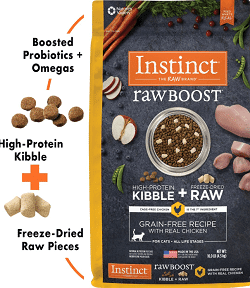 Instinct Raw Boost Grain-Free Recipe with Real Chicken & Freeze-Dried Raw Coated Pieces Dry Cat Food