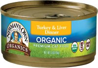 Newman's Own Organic Grain-Free 95% Turkey & Liver Dinner Canned Cat Food