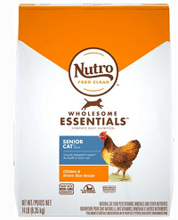 Nutro Wholesome Essentials Chicken & Brown Rice Recipe Senior Dry Cat Food