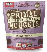 Primal Turkey Formula Nuggets Grain-Free Raw Freeze-Dried Cat Food