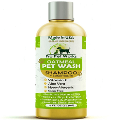 Pro Pet Works All Natural Organic 5 in One Oatmeal Pet Shampoo + Conditioner