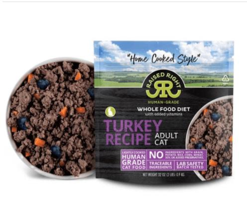 Raised Right Turkey Adult Cat Recipe