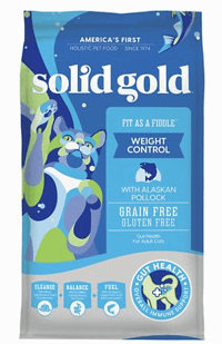 Solid Gold Fit as a Fiddle Weight Control with Alaskan Pollock Grain-Free Adult Dry Cat Food