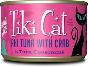 Tiki Cat Hana Grill Ahi Tuna with Crab in Tuna Consomme Grain-Free Canned Cat Food